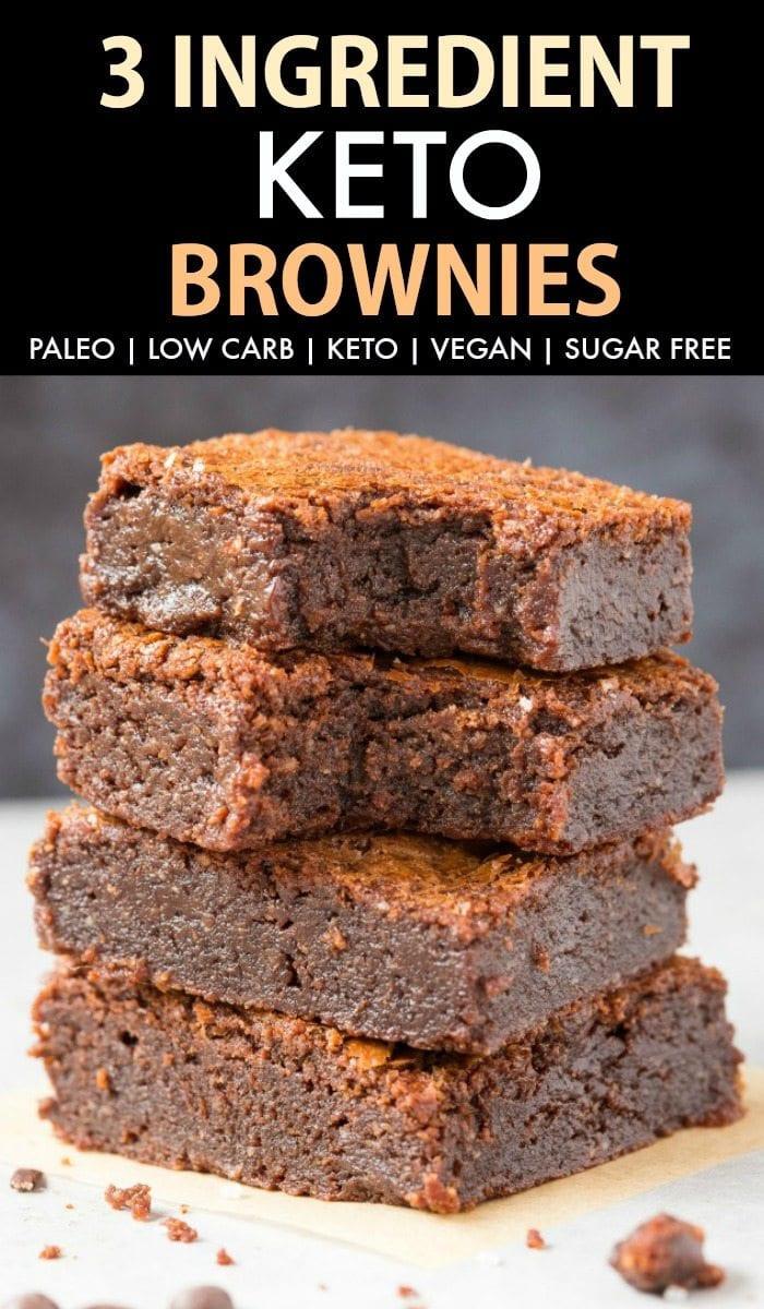 Easy Keto Brownies  Fudgy Keto Low Carb Brownies Paleo Vegan Sugar Free
