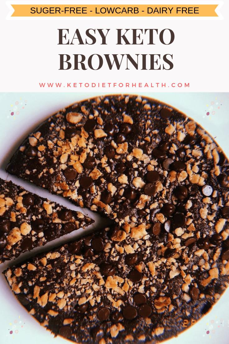 Easy Keto Brownies  Easy KETO BROWNIE KetoDietForHealth