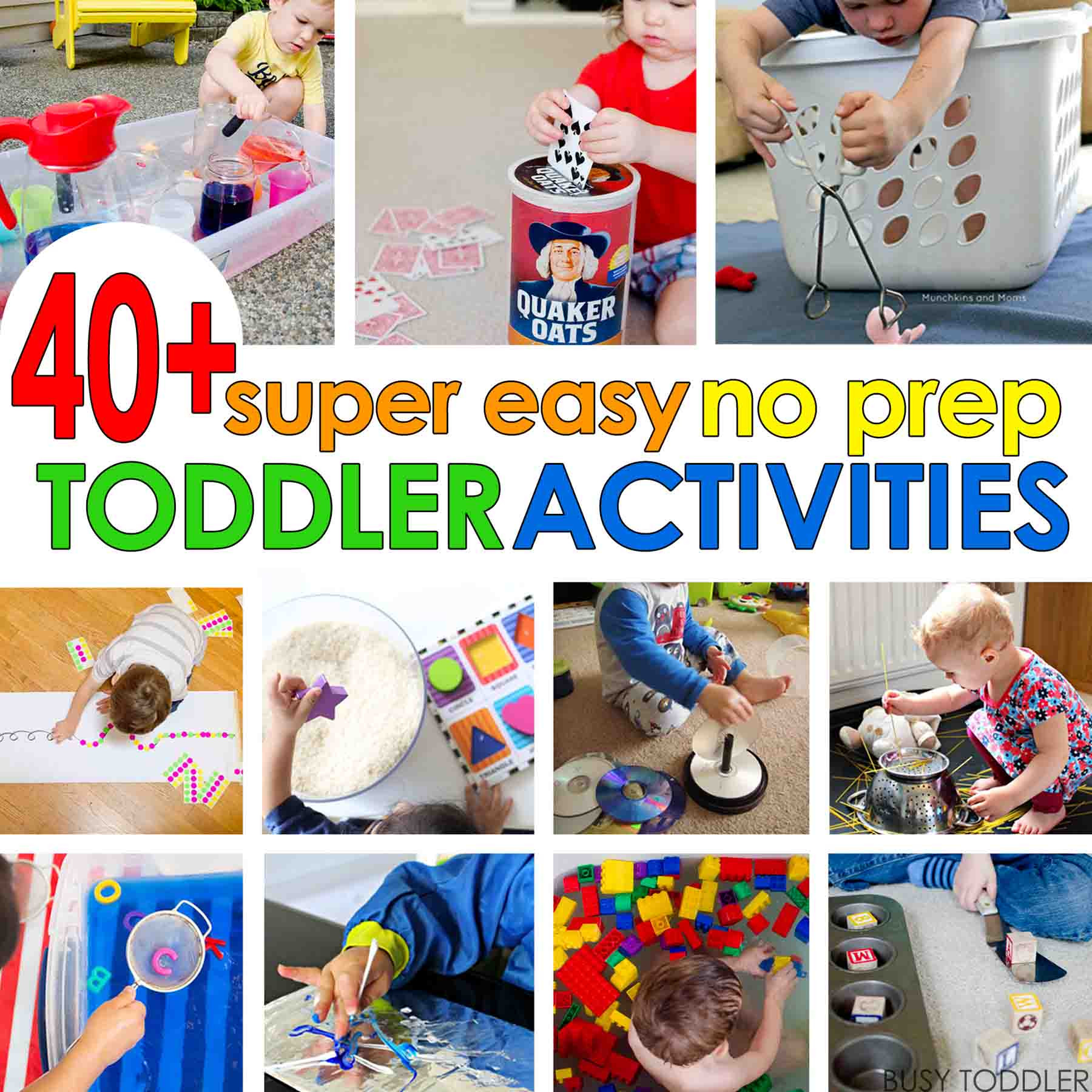 Easy Projects For Preschoolers  40 Super Easy Toddler Activities Busy Toddler
