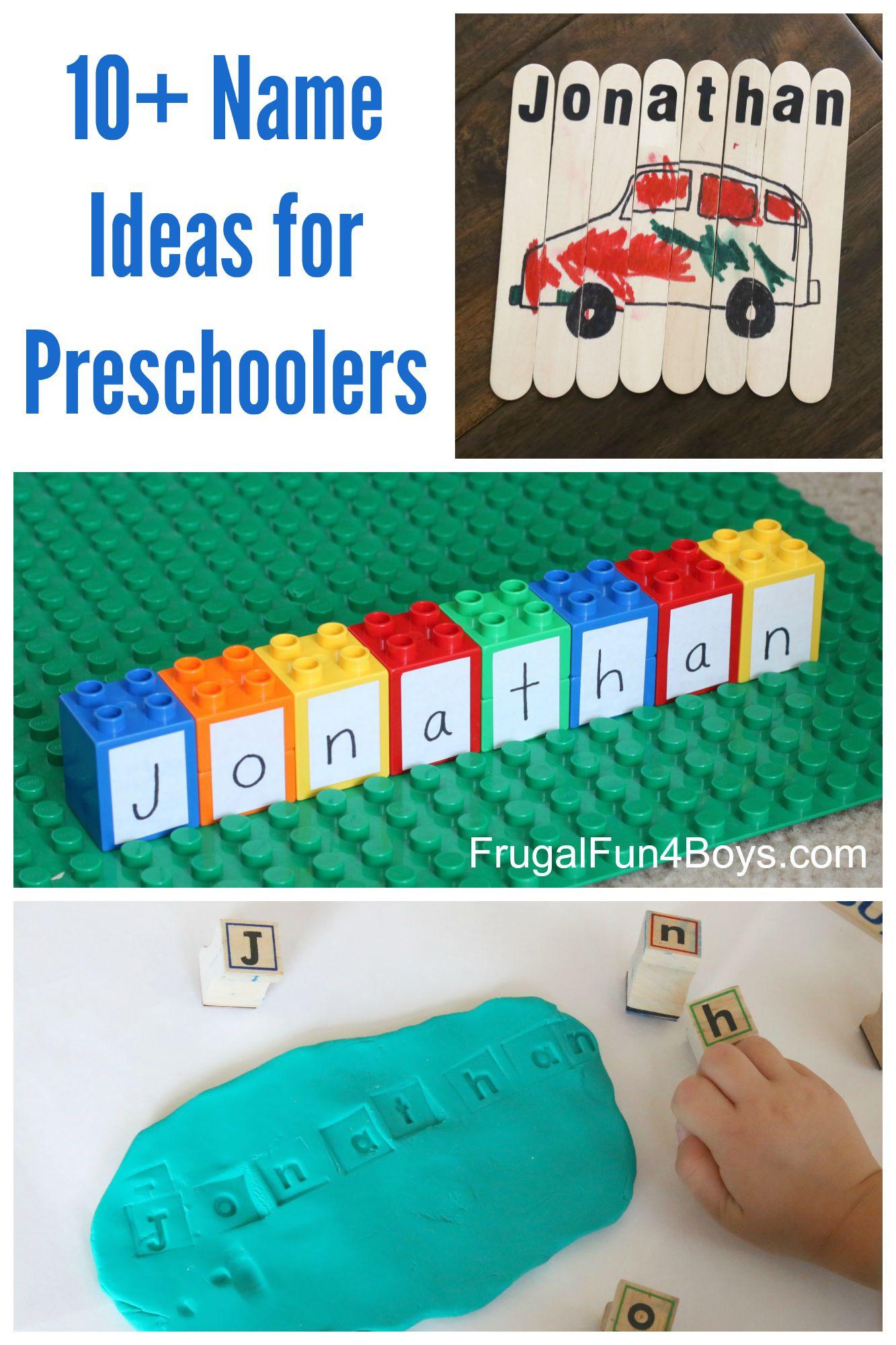 Easy Projects For Preschoolers  Simple Name Activities for Preschoolers