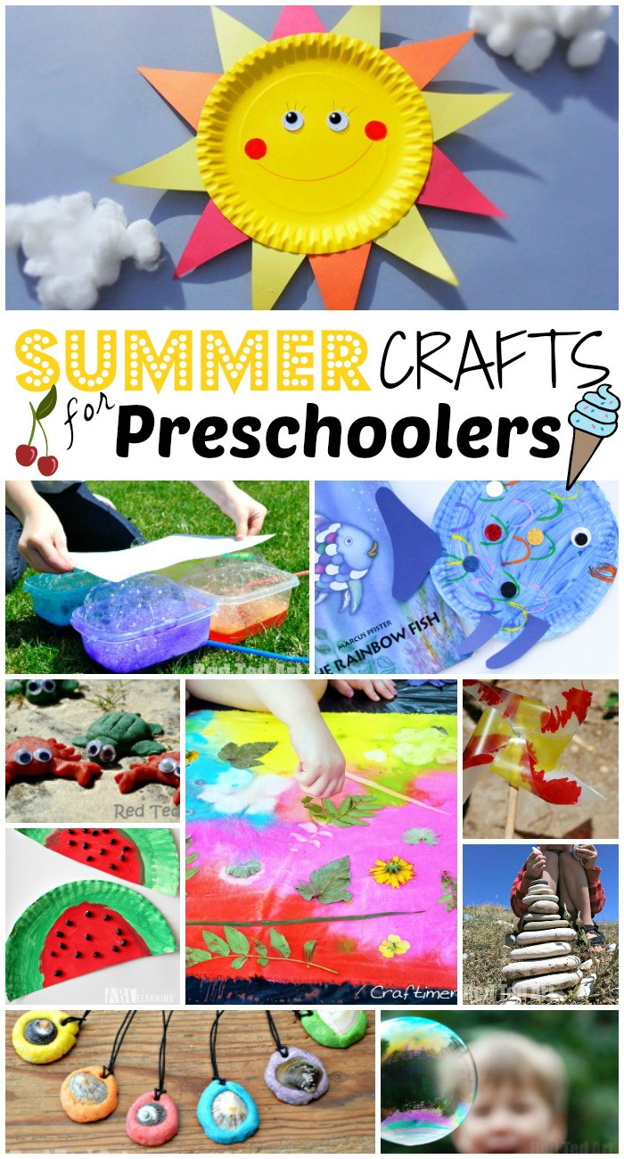 Easy Projects For Preschoolers  Summer Crafts for Preschoolers Red Ted Art s Blog