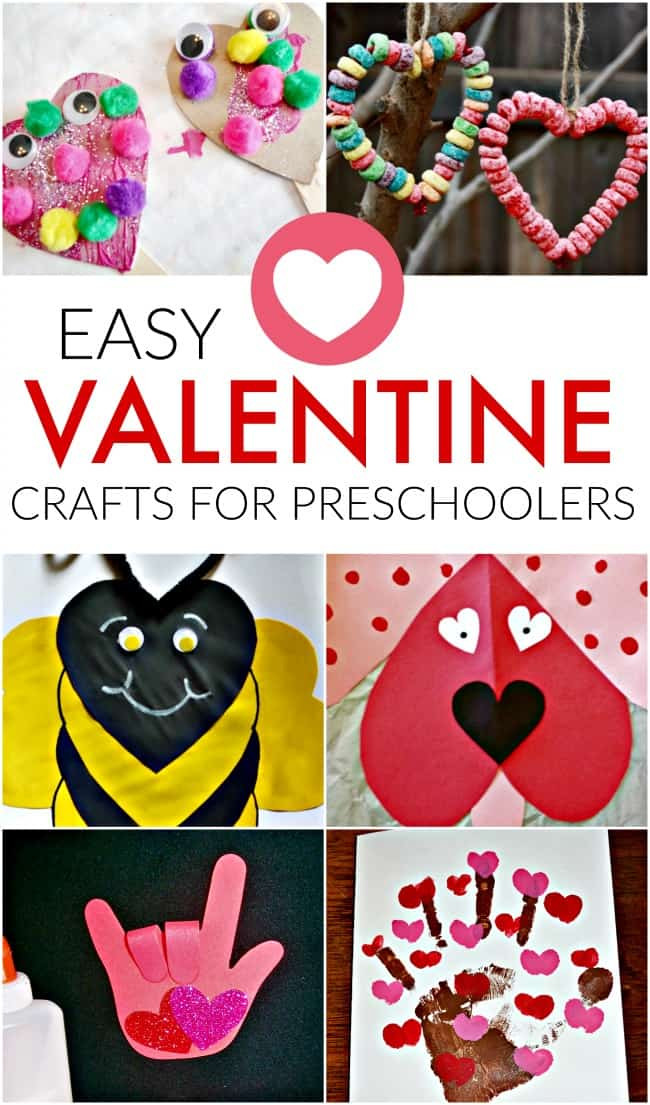Easy Projects For Preschoolers  Easy Valentine Craft Ideas for Preschoolers Crafts for
