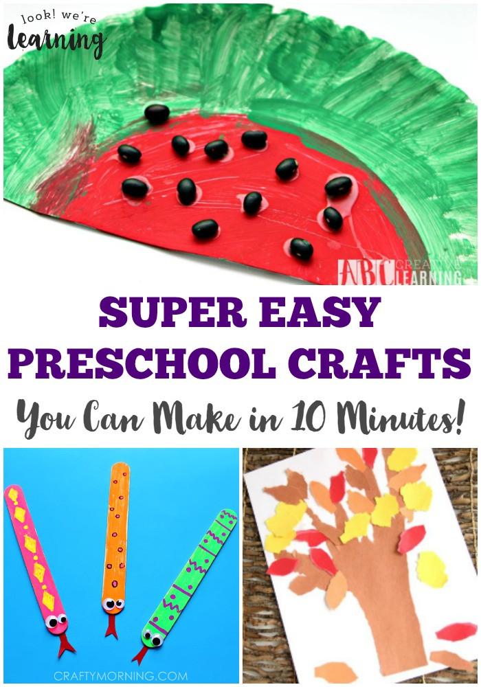 Easy Projects For Preschoolers  Pocket Wockets and 10 Minute Preschool Crafts Preschool
