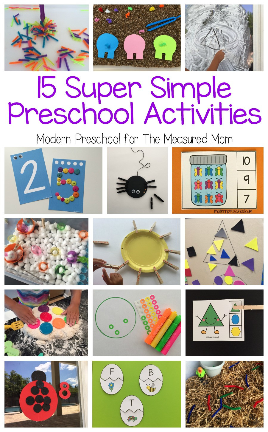 Easy Projects For Preschoolers  15 Super simple learning centers for preschool The