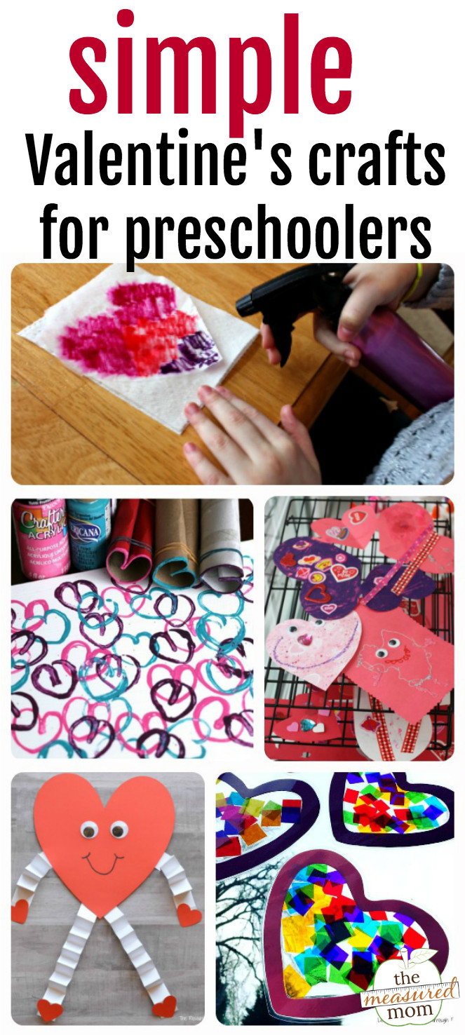Easy Projects For Preschoolers  Easy Valentine crafts for preschoolers The Measured Mom