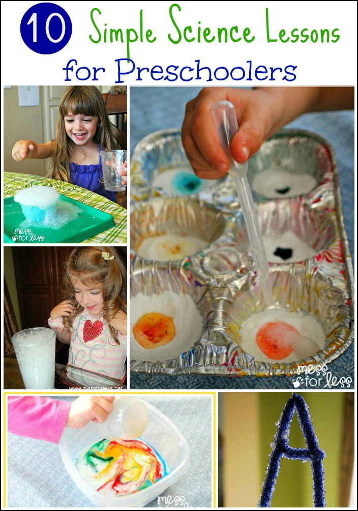 Easy Projects For Preschoolers  Simple Science for Preschoolers 10 Experiments Mess