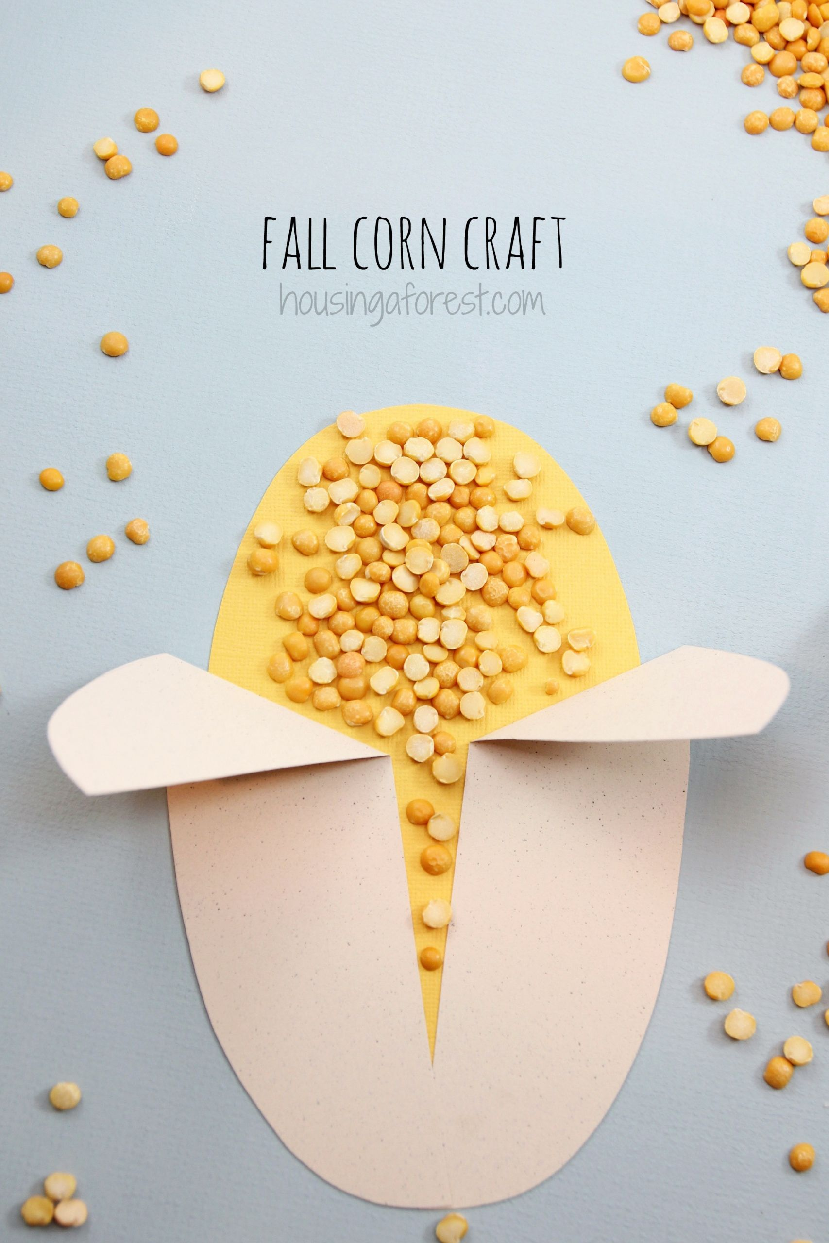 Easy Projects For Preschoolers  Easy Corn Craft