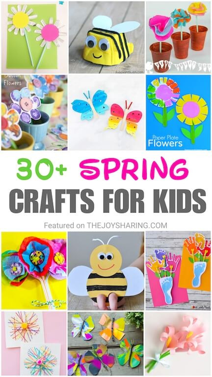 Easy Projects For Preschoolers  30 Quick & Easy Spring Crafts for Kids The Joy of Sharing