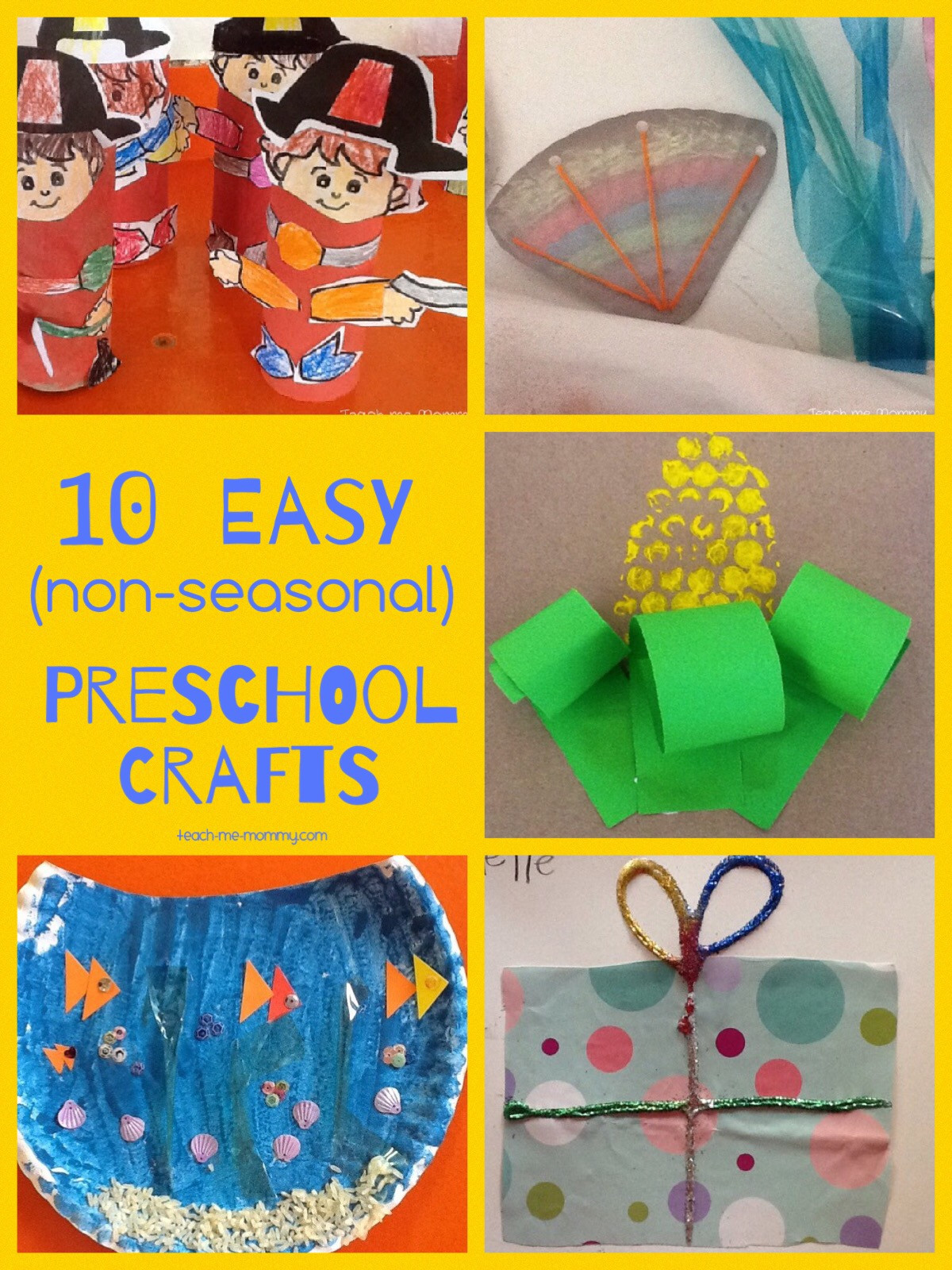 Easy Projects For Preschoolers  Easy Crafts for Preschoolers Teach Me Mommy