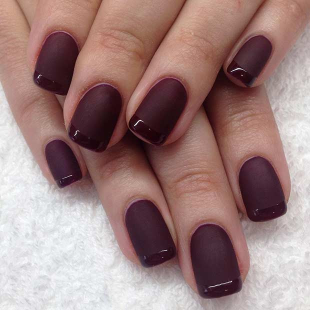 Fall Matte Nail Colors  25 Cool Matte Nail Designs to Copy in 2017