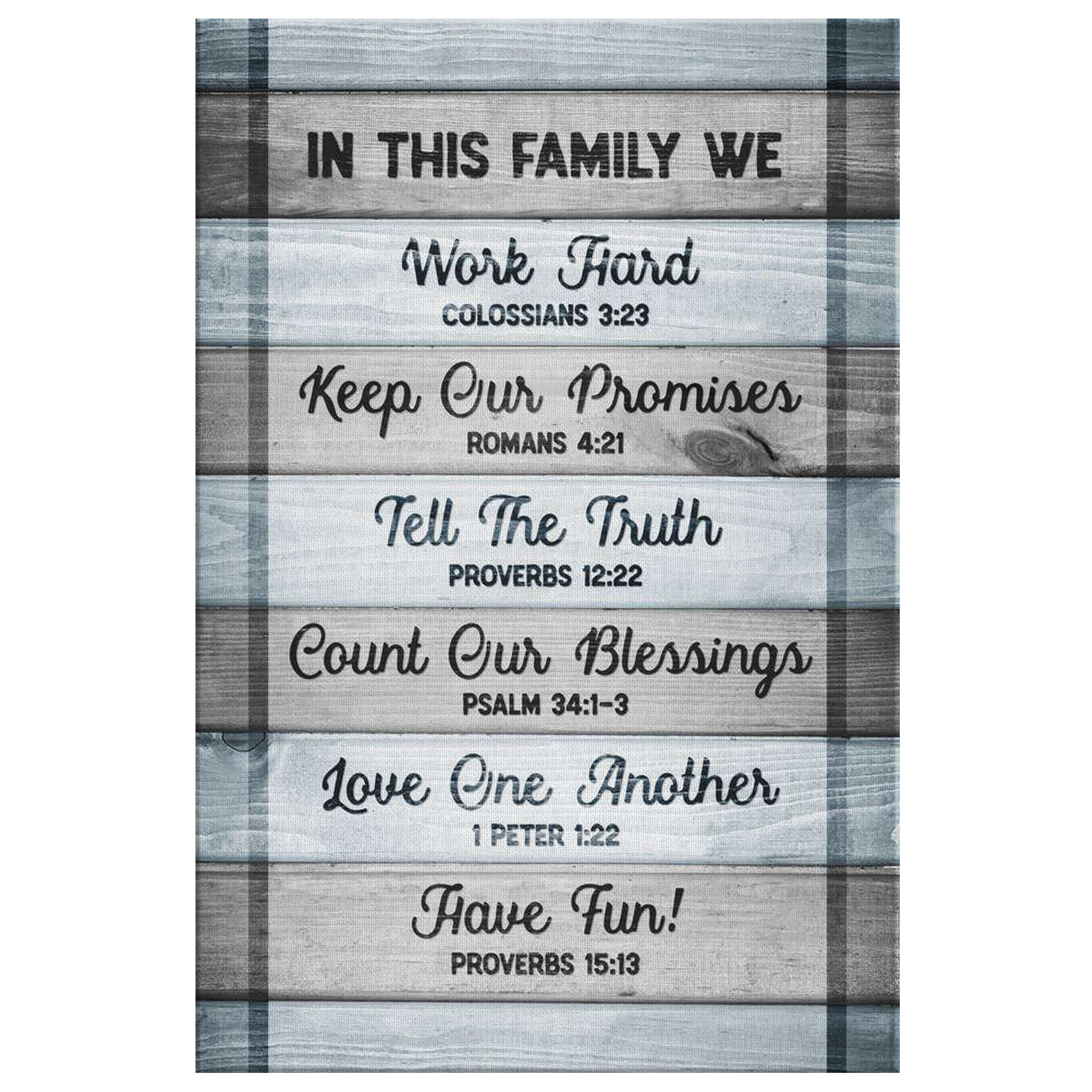 """Family Bible Quotes  """"In this Family Bible Quotes"""" Premium Canvas GearDen"""