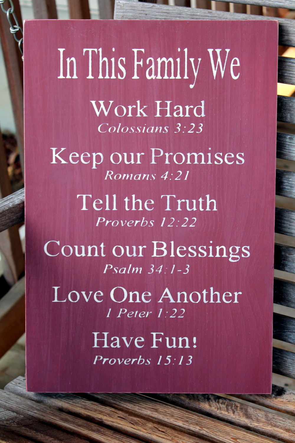 Family Bible Quotes  Christian Family Rules Sign Bible Verses Housewarming Gift