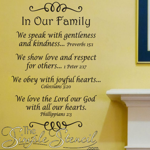 Family Bible Quotes  In Our Family Bible Verse Wall Quote