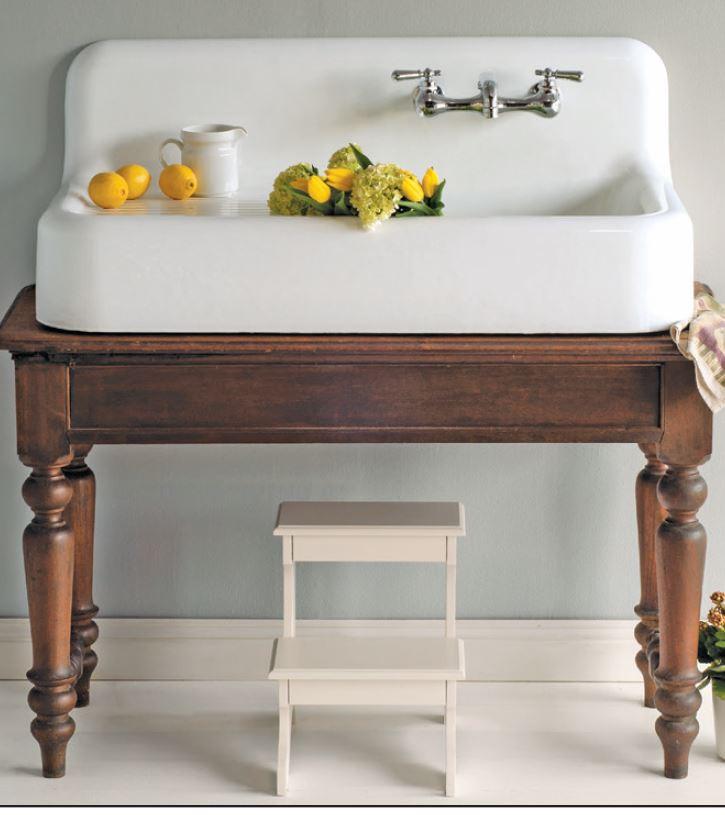 "Farmhouse Bathroom Sink  Small farmhouse sink 42"" cast iron new from Strom"