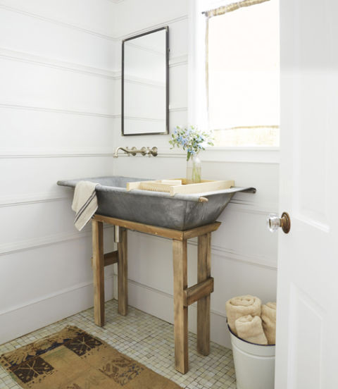 Farmhouse Bathroom Sink  Farmhouse Bathrooms and Projects Knick of Time