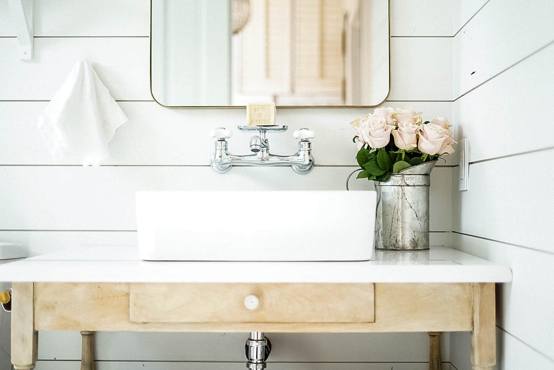 Farmhouse Bathroom Sink  Farmhouse Bathroom Renovation – 5 Proven Tips to Make a
