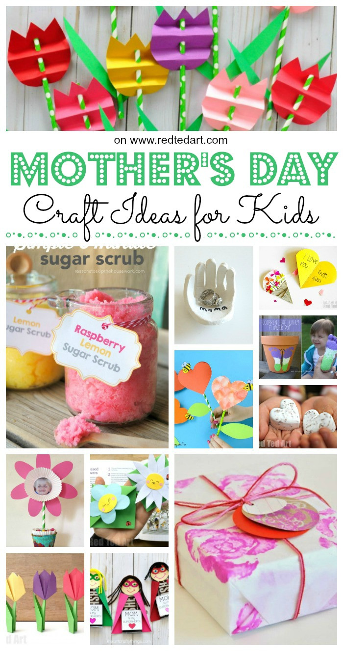 Father'S Day Craft Ideas For Preschoolers  Easy Mother s Day Crafts for Kids to Make Red Ted Art