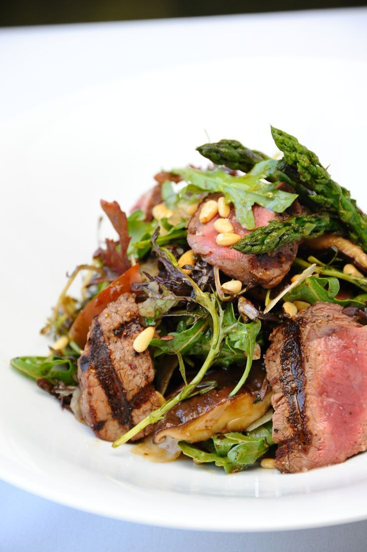Filet Mignon Side Dishes  FIG & OLIVE Filet Mignon Salad With images