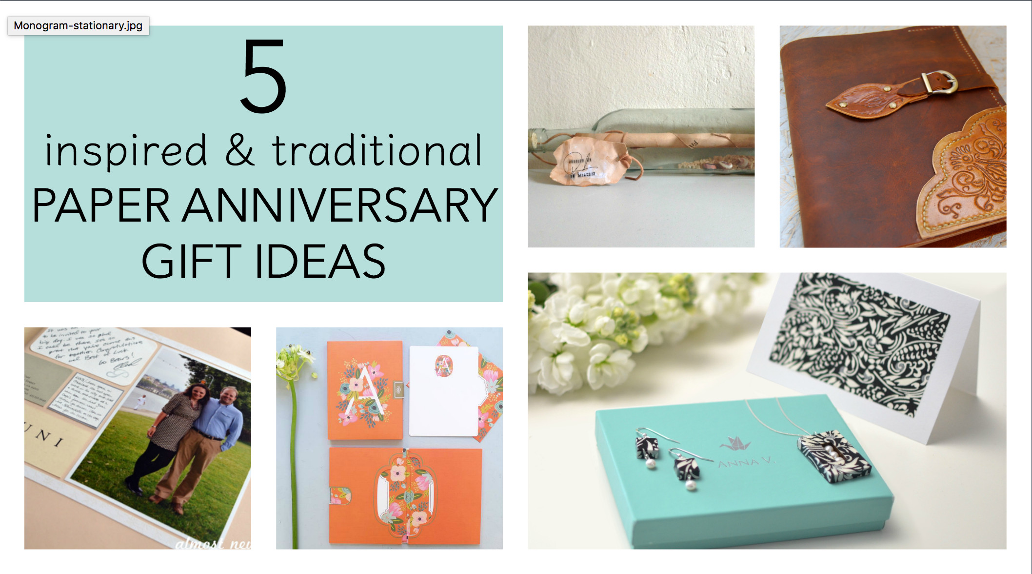 First Anniversary Gift Ideas For Her  5 Traditional Paper Anniversary Gift Ideas for Her Paper