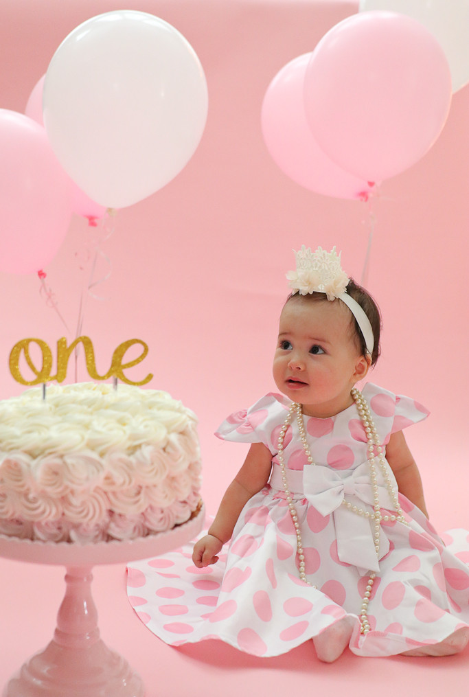 First Birthday Cake Smash  First Birthday Cake Smash Party Pink and Gold e Year party