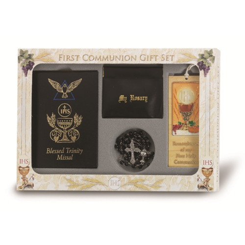 First Communion Gift Ideas Boys  First munion Blessed Trinity Gift Set For Boys