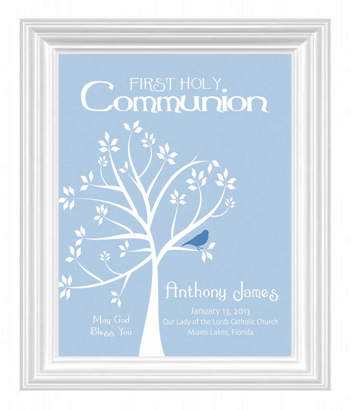 First Communion Gift Ideas Boys  munion Personalized Gift First Holy munion Print Boys