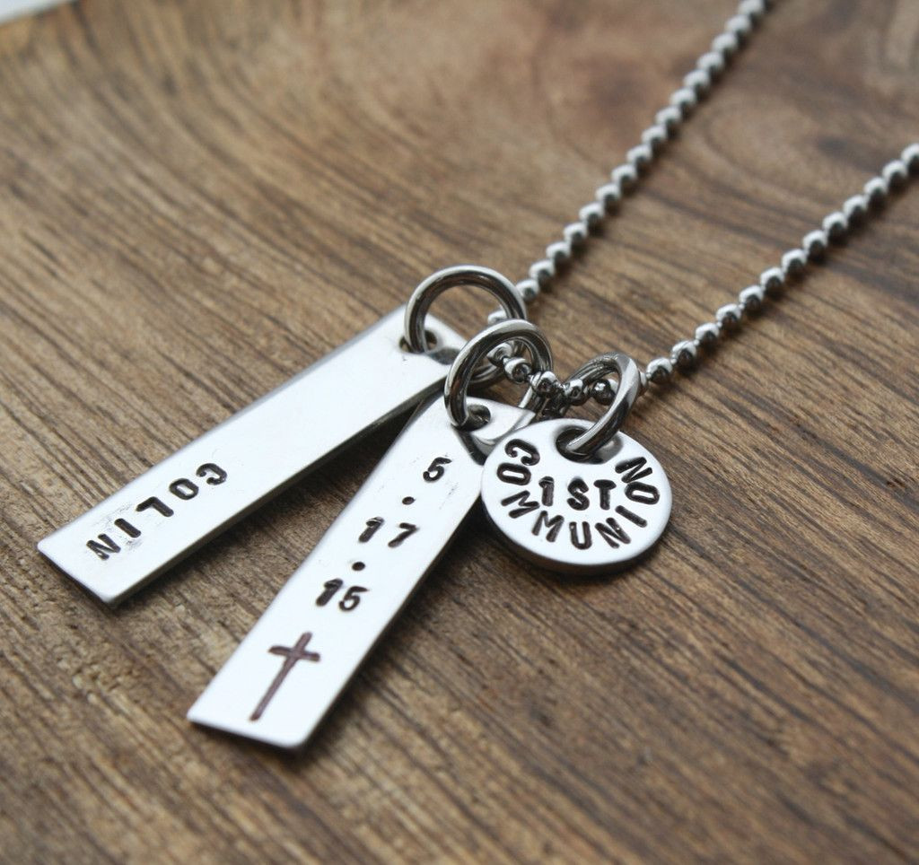 First Communion Gift Ideas Boys  Boys First munion Necklace