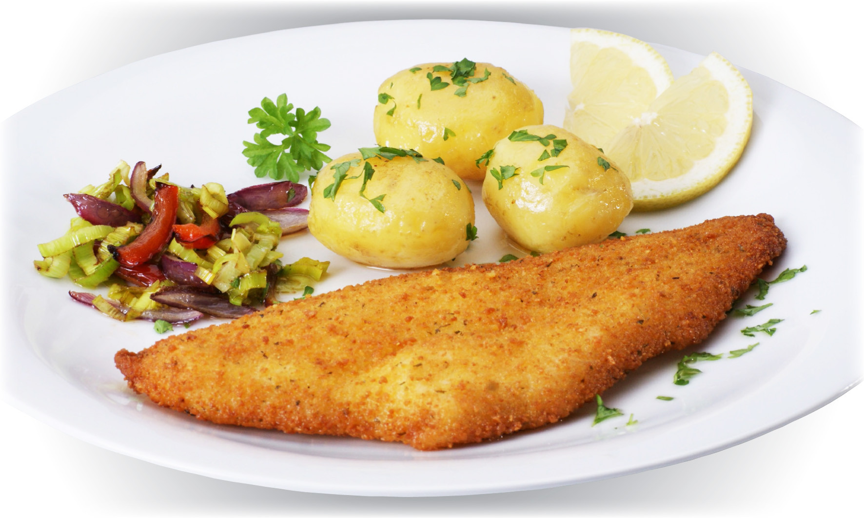 Fish Breading Recipes  Recipes Breaded fish fillet with fresh ve ables and