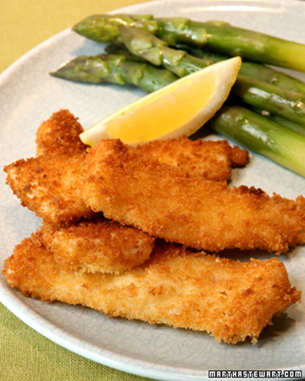 Fish Breading Recipes  Panko Breaded Fish Sticks Recipe & Video