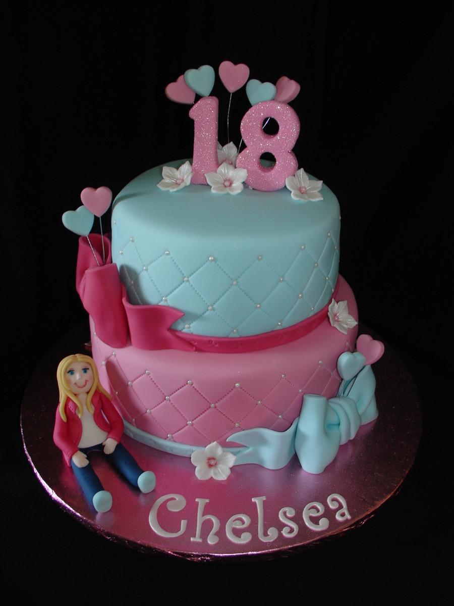 Fondant Birthday Cakes  18Th Birthday Fondant Cake CakeCentral