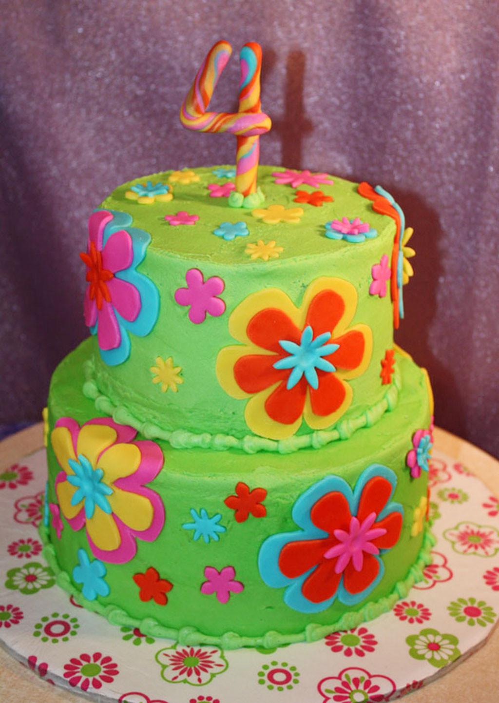 Fondant Birthday Cakes  Fondant Flowers Birthday Cakes Birthday Cake Cake Ideas