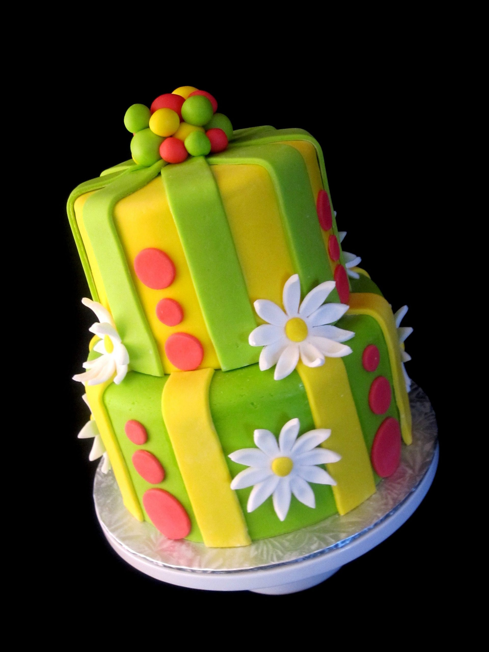 Fondant Birthday Cakes  marshmallow fondant