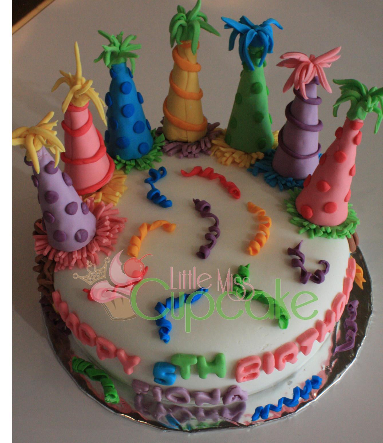 Fondant Birthday Cakes  Birthday Surprise Party Cake