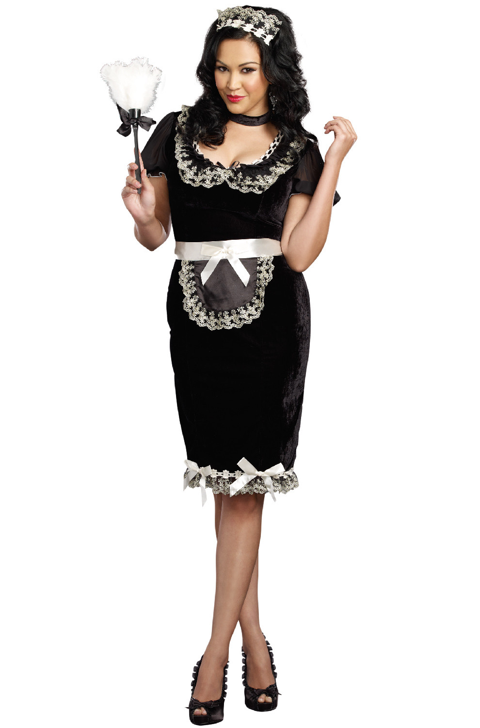 French Maid Costume DIY  Keep it Clean French Maid Plus Size Costume