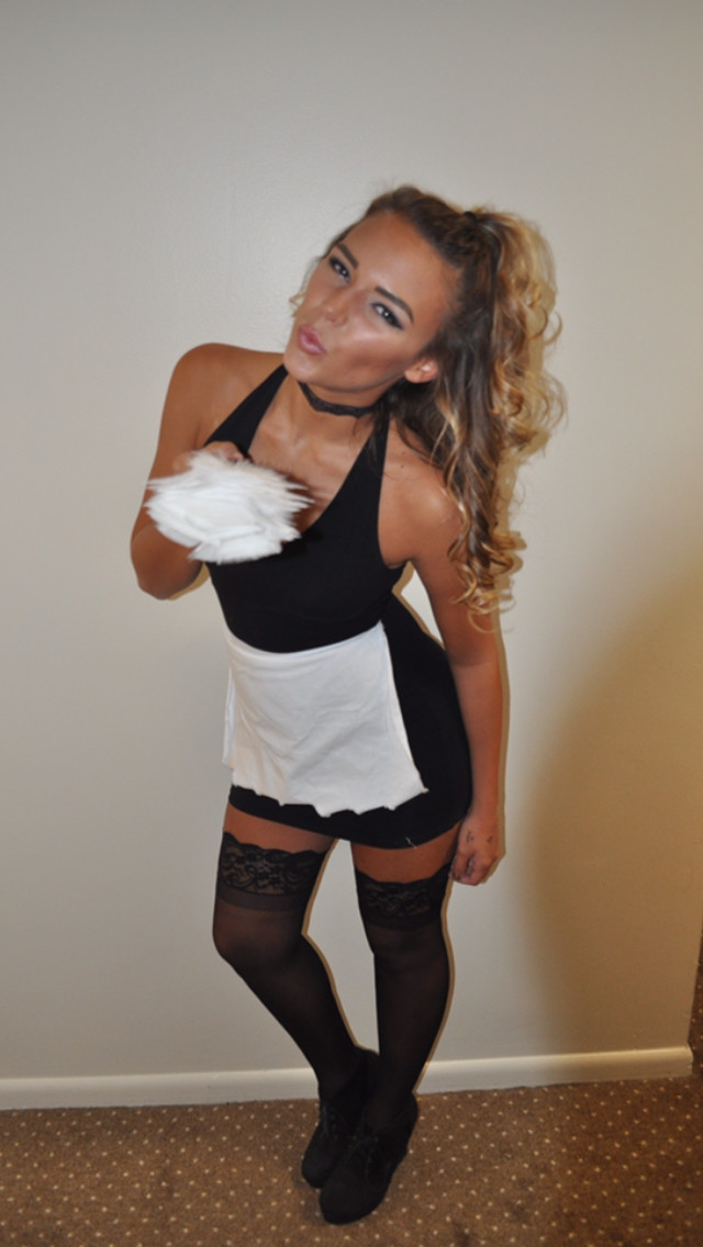 French Maid Costume DIY  French maid Halloween costume College Life