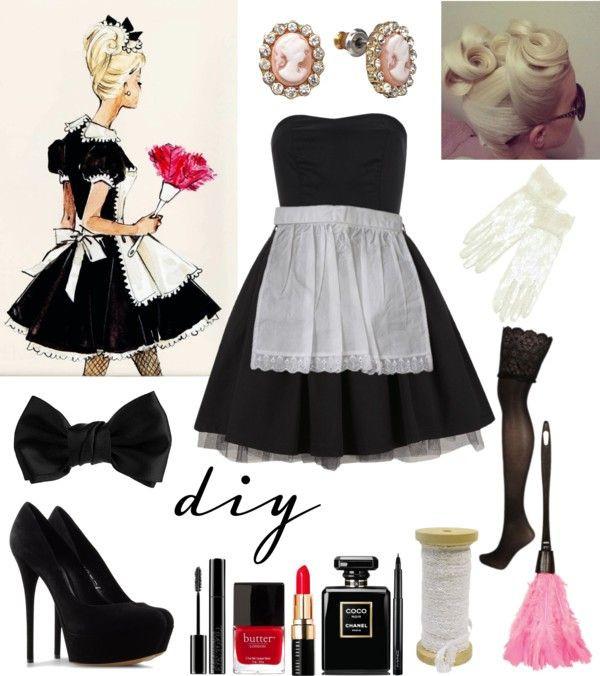 French Maid Costume DIY  Pinterest