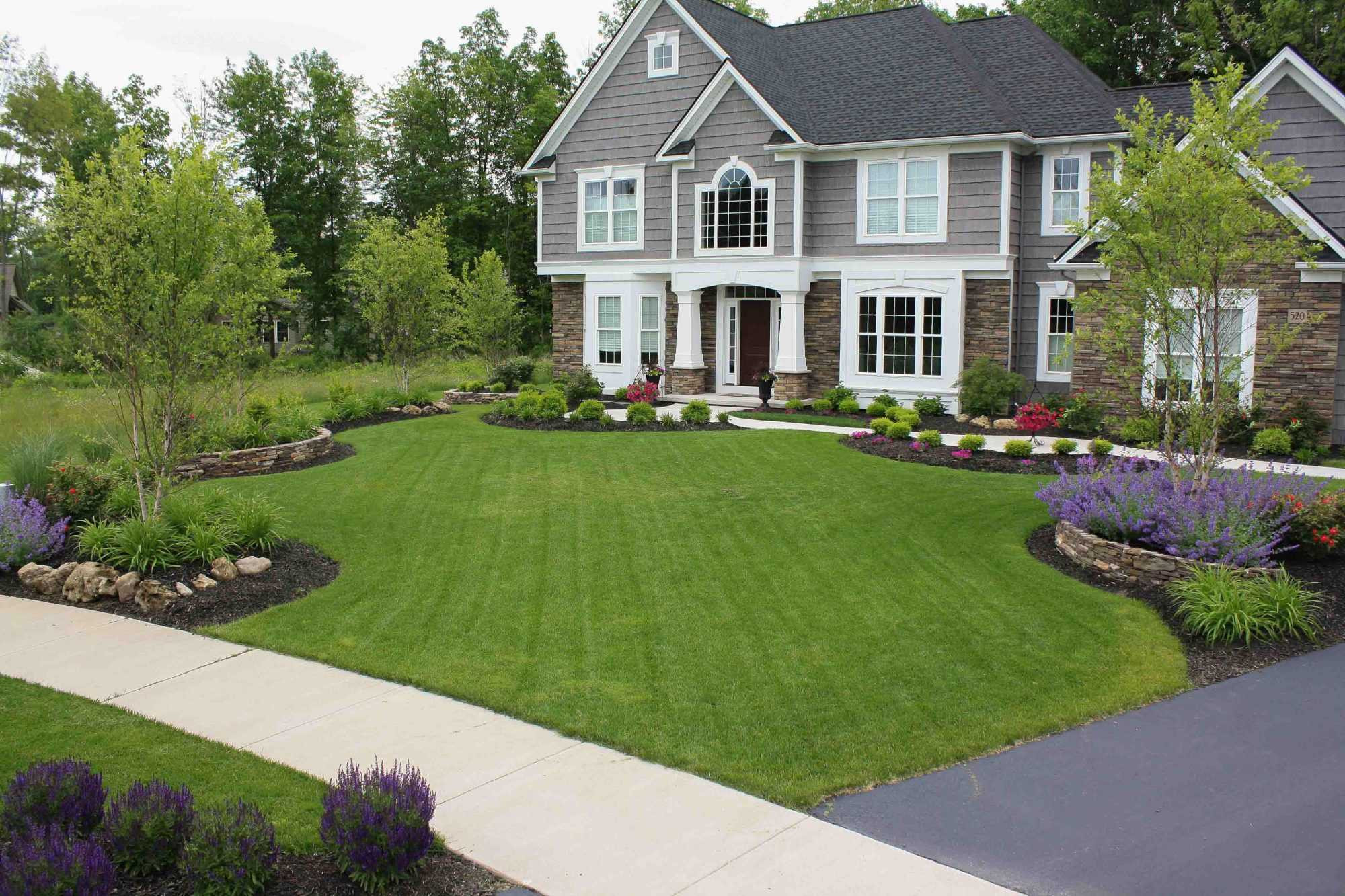 Front Yard Landscape Picture  Front Yard Landscaping Rochester NY Homes