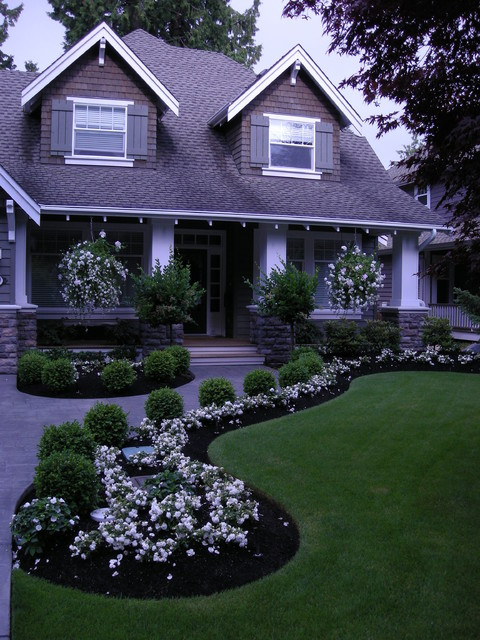 Front Yard Landscape Picture  Front Yard Landscaping Make Over 1 Traditional