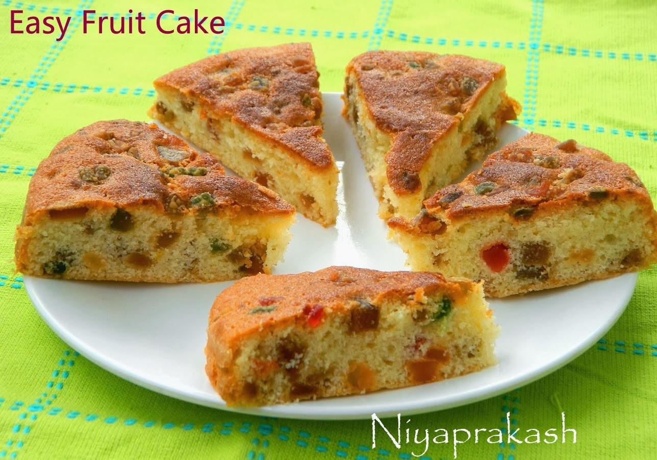 Fruit Cake Recipe Easy  Niya s World Easy Fruit Cake no added caramel sugar