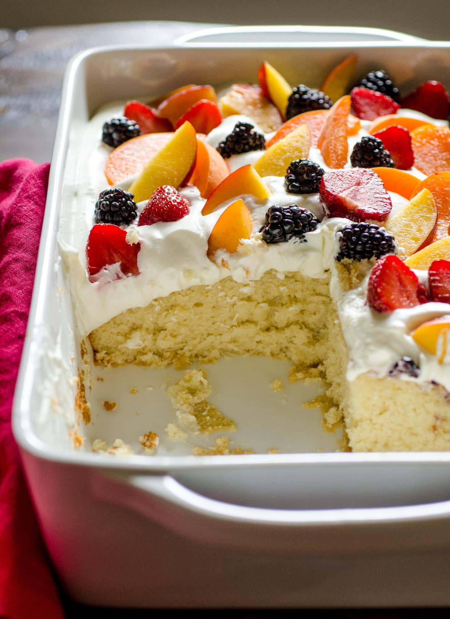 Fruit Cake Recipe Easy  Recipe Easy Summer Cake with Fruit & Cream