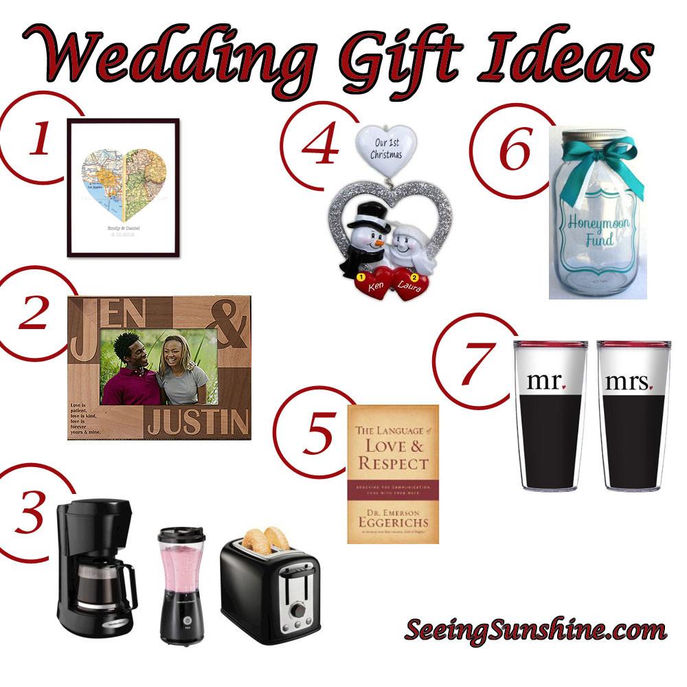 Fun Gift Ideas For Couples  Wedding Gift Ideas Seeing Sunshine