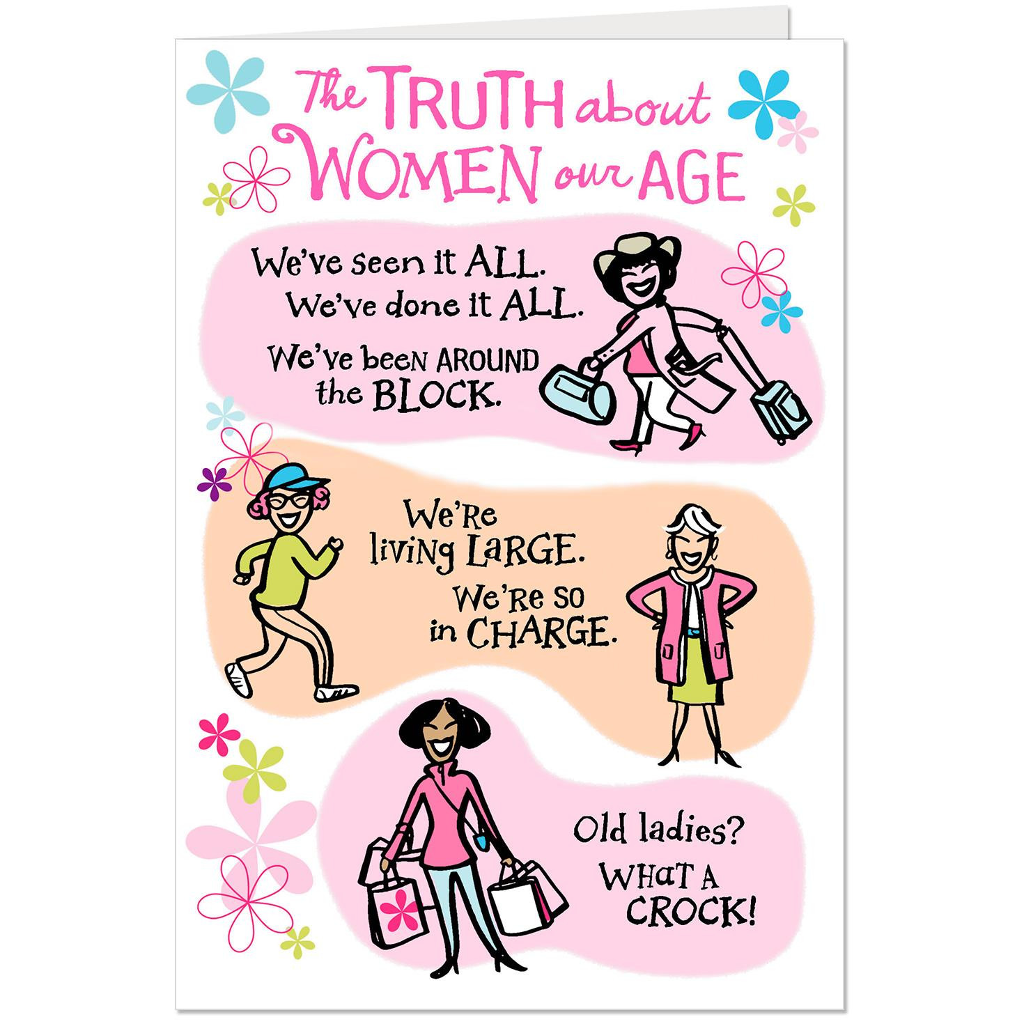 Funny Birthday Card For Friend  Women Our Age Funny Birthday Card for Friend Greeting