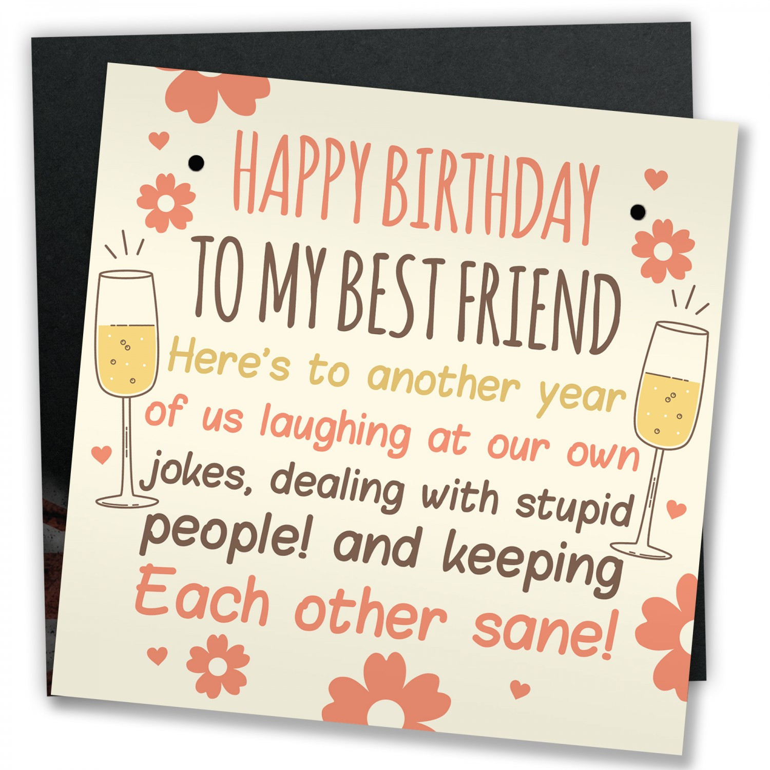 Funny Birthday Card For Friend  Funny Best Friend Birthday Card Friendship Gifts Sign