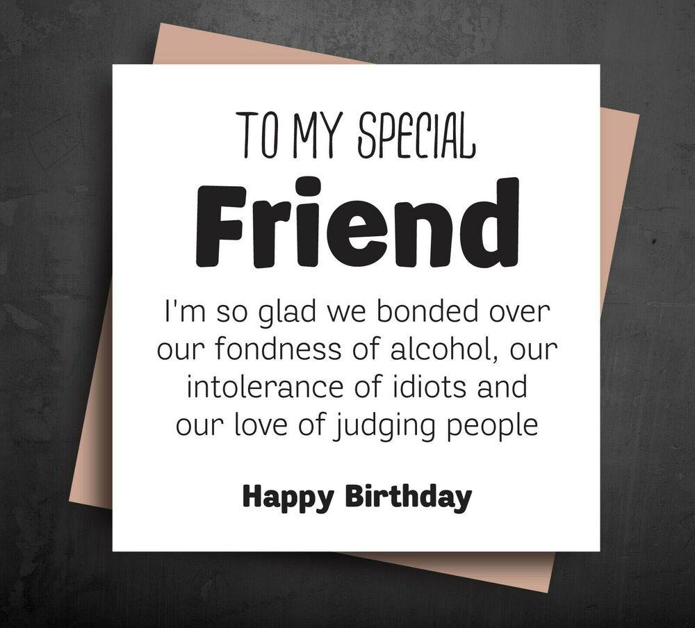 Funny Birthday Card For Friend  Funny Birthday card best friend t idea wine gin rude