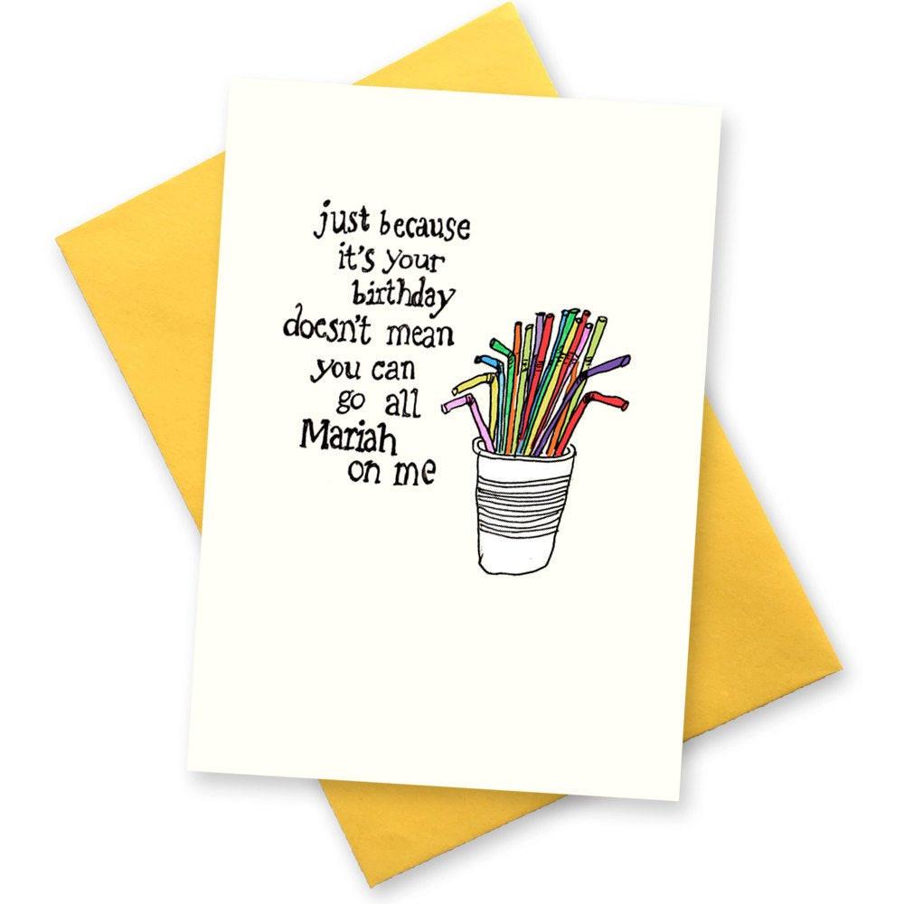 Funny Birthday Card For Friend  Funny birthday card Diva BFF best friend greeting