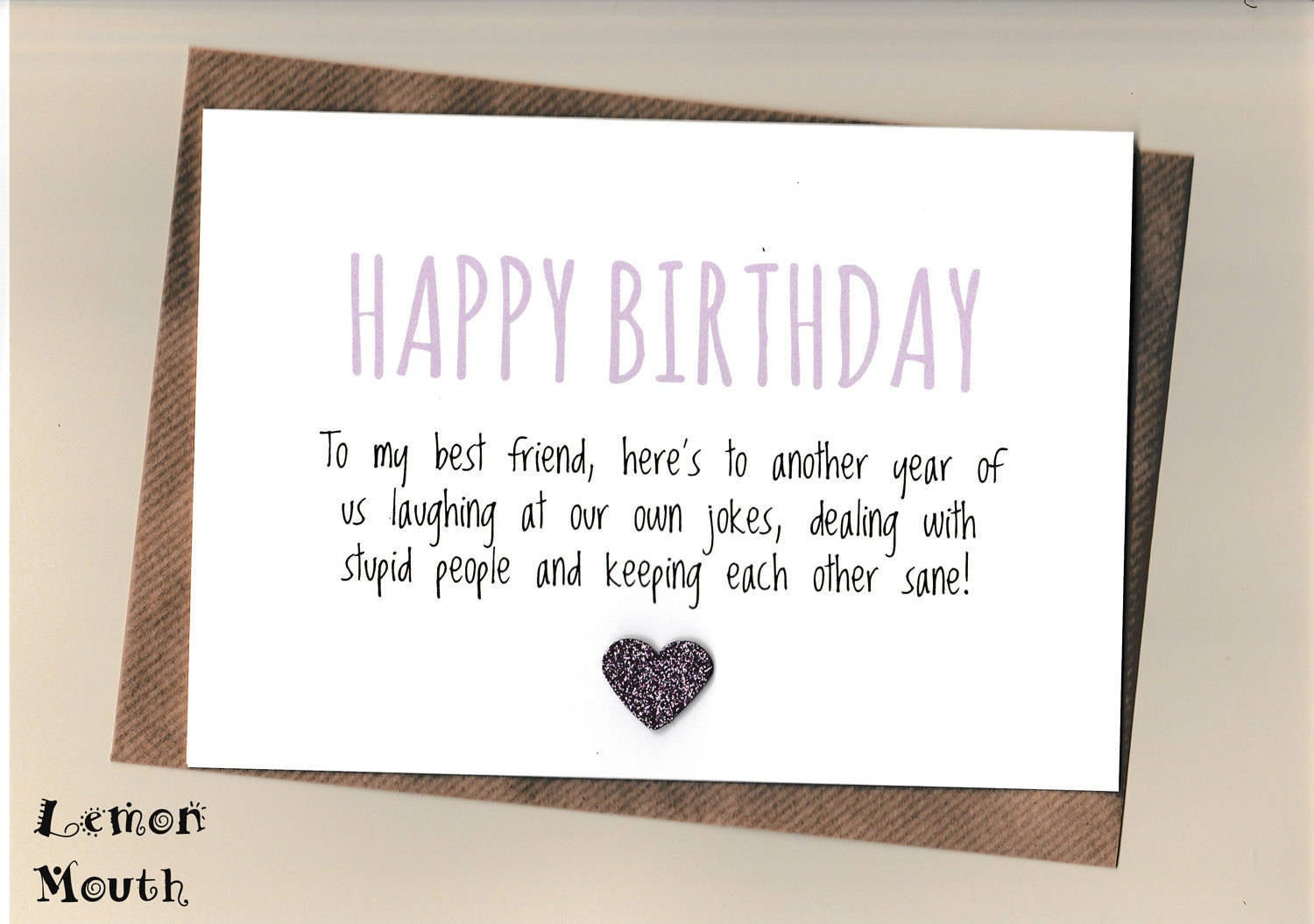 Funny Birthday Card For Friend  Funny BEST FRIEND Birthday Card Bestie Love Friends