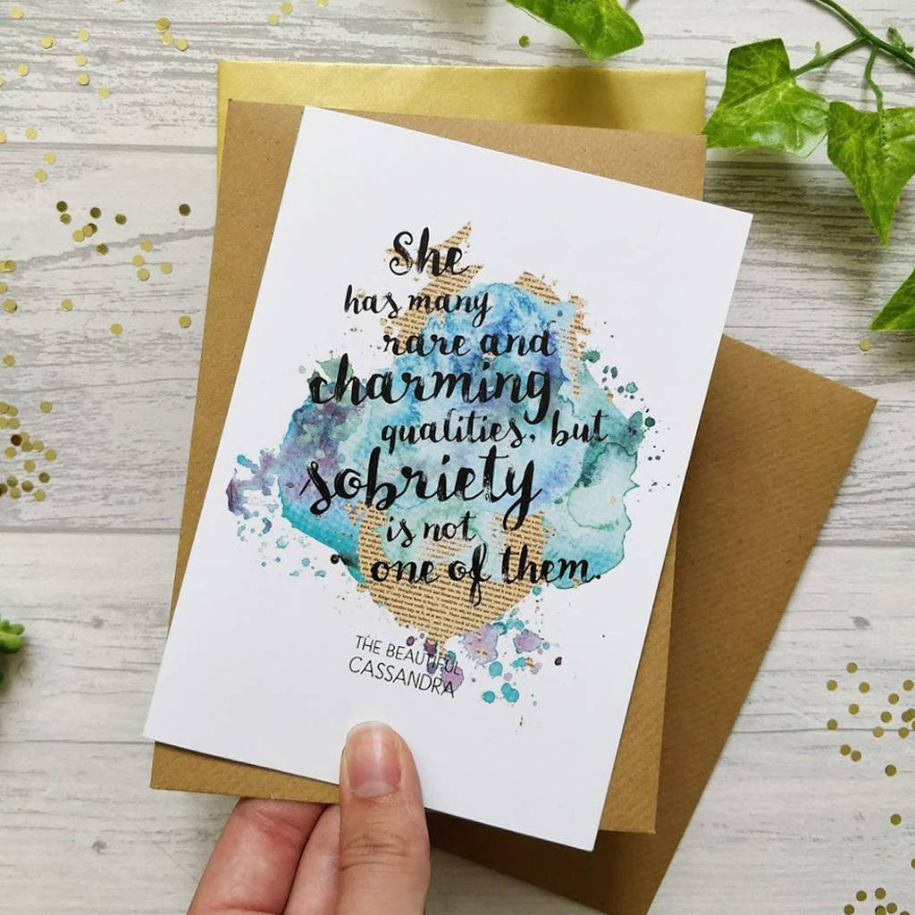 Funny Birthday Card For Friend  funny best friend sobriety birthday card by bookishly