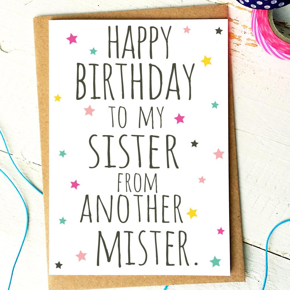 Funny Birthday Card For Friend  Best Friend Card Funny Birthday Card Sister From Another