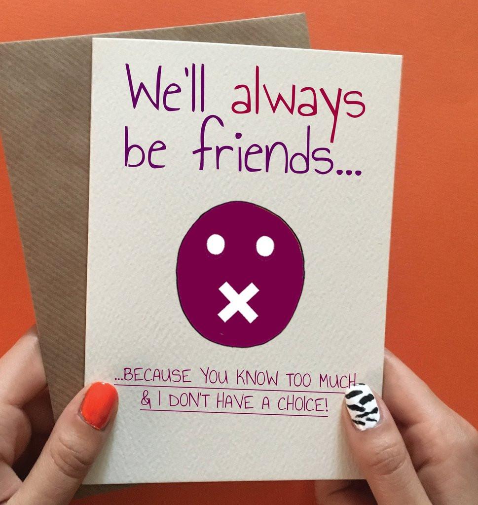 Funny Birthday Card For Friend  Funny best friend birthday card – Cheeky Zebra