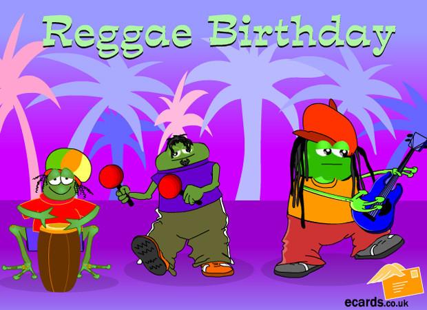 Funny Singing Birthday Cards  eCards Have A Reggae Birthday